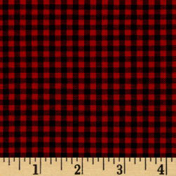 "Kaufman 1/8"" Carolina Gingham Scarlet"