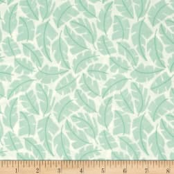Cloud 9 Organic Park Life Leafscape Turquoise Fabric