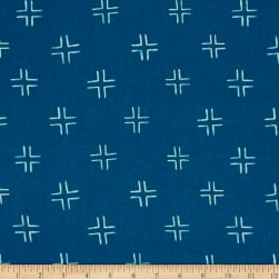Cloud 9 Organic Brush Strokes Trellis Navy Fabric