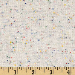 Kaufman Speckle Jersey Knit Natural Fabric