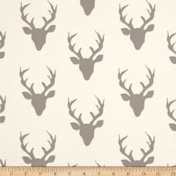Art Gallery Jersey Knit Buck Forest Silver Fabric