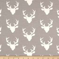 Art Gallery Jersey Knit Buck Forest Mist Fabric