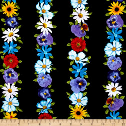 Kanvas Bloom With A View Wall Flowers Black
