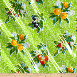 Oilcloth Summer Fruit Lime Fabric