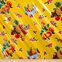 Oilcloth Cane Yellow Fabric
