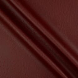 Faux Leather Ostrich Burgundy Fabric