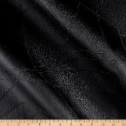 Faux Leather Patchwork Black Fabric