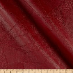 Faux Leather Patchwork Burgundy Fabric
