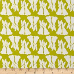 Kaufman Pacific Bunnies Pickle Fabric