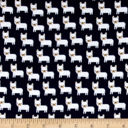 Kaufman Urban Zoologie Minis Flannel Little Dogs Midnight