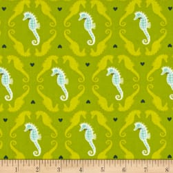 Michael Miller Into The Deep Dapper Seahorses Keylime