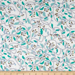Liberty Fabrics Tana Lawn Budding Vine Gray Fabric