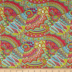 Liberty Fabrics Dufour Jersey Knit Jenny's Fan Light
