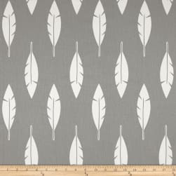 Premier Prints Feather Silhouette Twill Storm Fabric