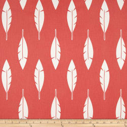 Premier Prints Feather Silhouette Twill Coral Fabric