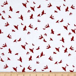 Michael Miller Brambleberry Ridge Flight Cranberry Fabric