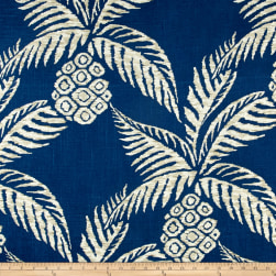 Duralee Pina Pineapple Navy Fabric