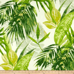 Duralee Solei Jungle Green Linen Fabric