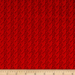 Shannon Minky Embossed Houndstooth Scarlet