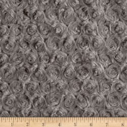 Shannon Minky Rose Cuddle Charcoal