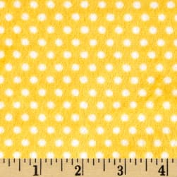 Shannon Minky Cuddle Swiss Dot Sunshine/Snow Fabric