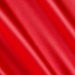 Silky Satin Charmeuse Solid Coral Fabric