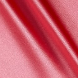 Silky Satin Charmeuse Solid Coral/Kiss Fabric