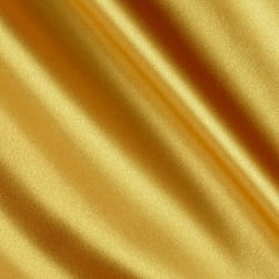 Silky Satin Charmeuse Solid Medium Gold Fabric