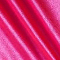 Silky Satin Charmeuse Solid Hot Pink Fabric