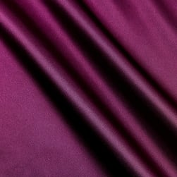 Silky Satin Charmeuse Solid Plum Fabric