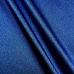 Silky Satin Charmeuse Solid Royal Fabric