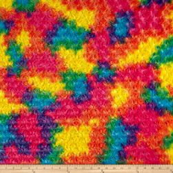 Shannon Minky Luxe Cuddle Rainbow Rose Vibrant Fabric
