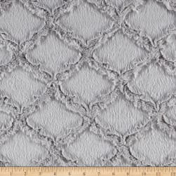 Shannon Minky Luxe Cuddle Lattice Silver