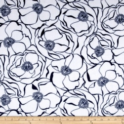 Shannon Minky Cuddle Bouquet Navy Fabric
