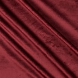 Shannon Minky Solid Cuddle 3 Merlot Fabric