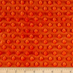 Shannon Minky Cuddle Dimple Mandarin Fabric