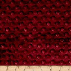 Shannon Minky Cuddle Dimple Merlot Fabric