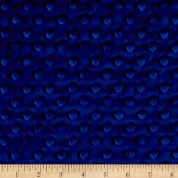 Shannon Minky Cuddle Dimple Royal Blue Fabric