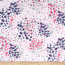 Shannon Minky Cuddle Floral Fields Paris Pink Fabric