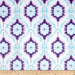 Shannon Minky Cuddle Flourish Lilac Fabric