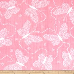 Shannon Minky Cuddle Flowerfly Paris Pink Fabric