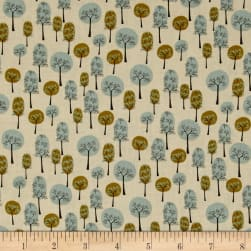 Roundabout Blue Green Trees Taupe 3