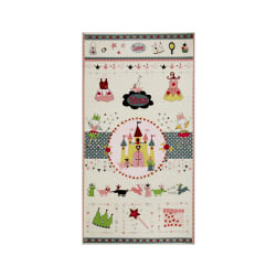 Sweet Princess 24 In. Panel Green/Pink