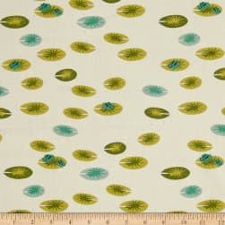 Birch Organic Swan Lake Frog Pad Cream Fabric
