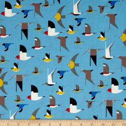 Birch Organic Charley Harper Maritime Birds Multi Fabric