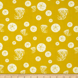 Birch Organic Charley Harper Maritime Sand Dollar and Jelly Yellow