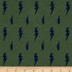 Fabric Merchants Cotton/Lycra Spandex Knit Thunderbolt Sage