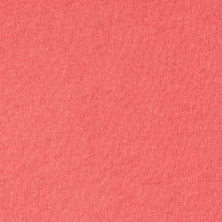 Cotton Jersey Knit Solid Coral