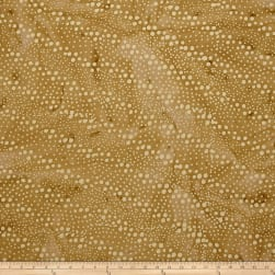 Indian Batik Hollow Ridge Dots Tan/Natural Fabric