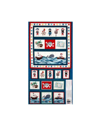 Pirates Pirate Pockets 23 In. Panel Blue Fabric